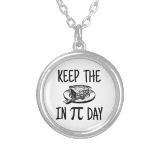 Keep The Pie in Pi Day Personalized Necklace