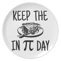 Keep The Pie in Pi Day Plate