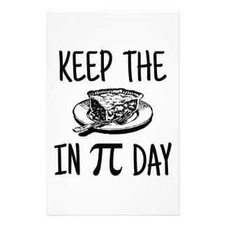 Keep The Pie in Pi Day Stationery