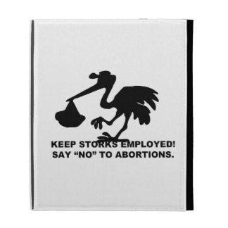 Keep the Storks Employed iPad Folio Cases