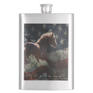 """""""Keep the wild in our west"""" Flask"""