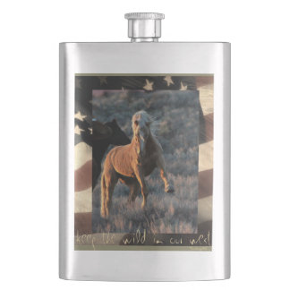"""Keep the wild in our west"" Wild Horse Flask"