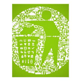 Keep The World Clean / Eco Friendly Customized Letterhead