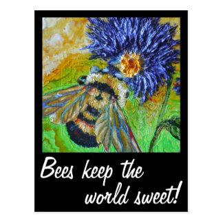 Keep the world sweet Bee Postcard