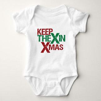 Keep the X in Xmas Baby Bodysuit