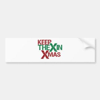 Keep the X in Xmas Car Bumper Sticker