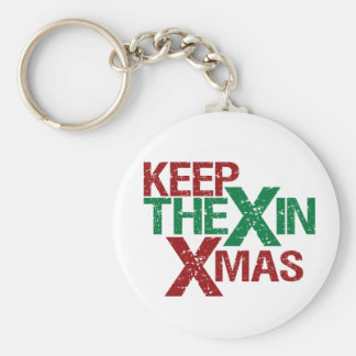 Keep the X in Xmas Basic Round Button Keychain