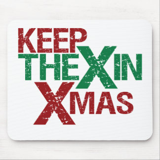 Keep the X in Xmas Mouse Pad