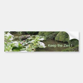 Keep the Zen ! Car Bumper Sticker