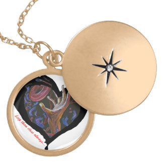 keep them close always... sickle cell art round locket necklace