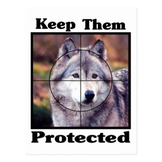 Keep them Protected - Wolf Postcards