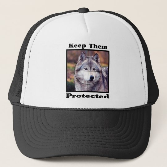 Keep them Protected - Wolf Trucker Hat