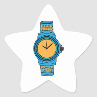 Keep Track of Time Star Sticker