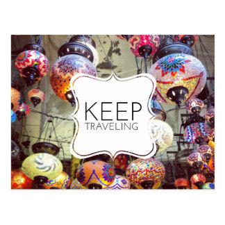 Keep Traveling Postcard