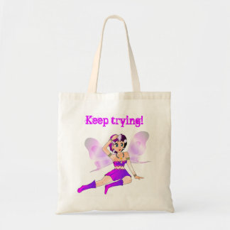 KEEP TRYING FAERIE TOTE BAG