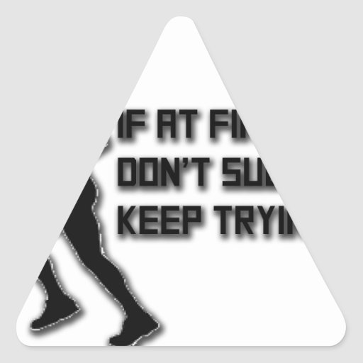 Keep Trying: Runner Triangle Sticker