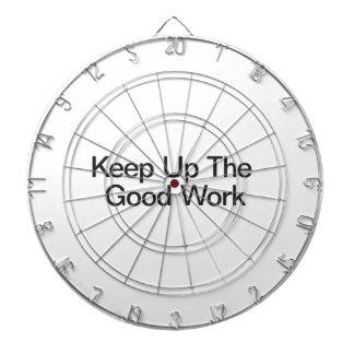 Keep Up The Good Work Dartboard With Darts