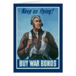 Keep Us Flying ~ Tuskeege Airman Greeting Card