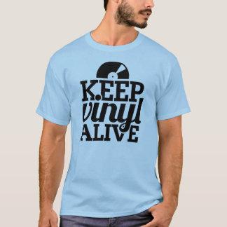 Keep Vinyl Alive T-Shirt - Pale Blue