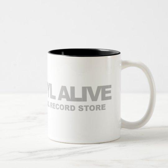 Keep Vinyl Alive Two-Tone Coffee Mug