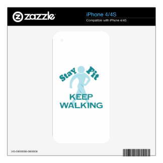 Keep Walking Decals For The iPhone 4