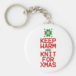 Keep Warm and Knit for Xmas Keychain