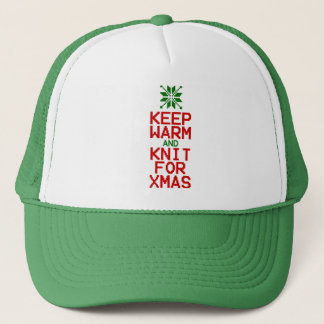 Keep Warm and Knit for Xmas Trucker Hat