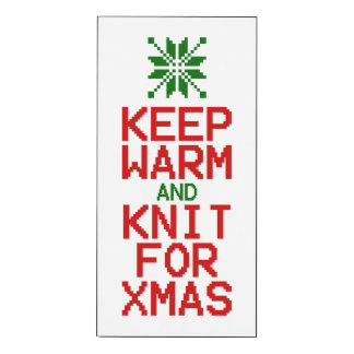 Keep Warm and Knit for Xmas Wood Print
