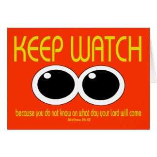 KEEP WATCH - Matt 24:42 Card