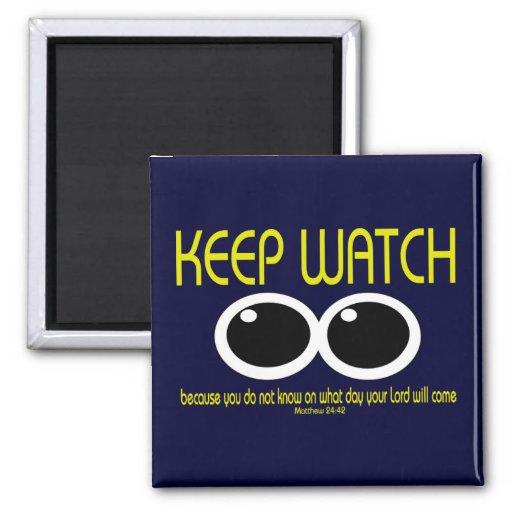 KEEP WATCH - Matt 24:42 Fridge Magnet