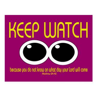 KEEP WATCH - Matt 24:42 Postcard