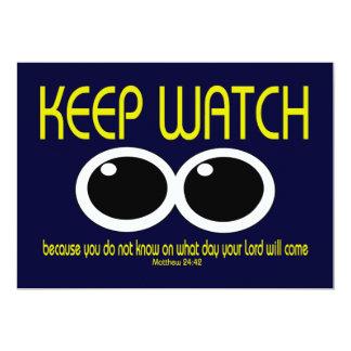KEEP WATCH - Matthew 24:42 Card