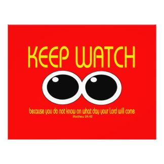 KEEP WATCH - Matthew 24:42 Flyer