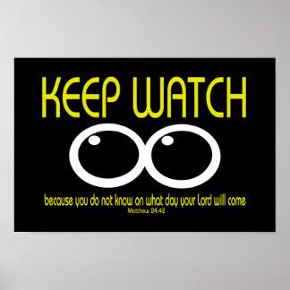 KEEP WATCH - Matthew 24:42 Poster