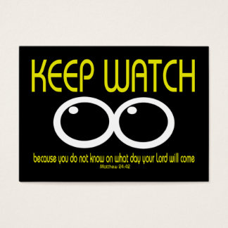 KEEP WATCH - Matthew 24:42 Tract Cards /
