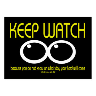 KEEP WATCH - Matthew 24:42 Tract Cards / Large Business Cards (Pack Of 100)