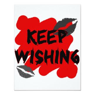 keep wishing custom invitations