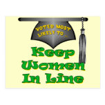 Keep Women In Line Postcard