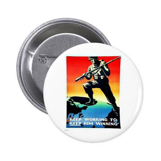 Keep Working Pinback Buttons