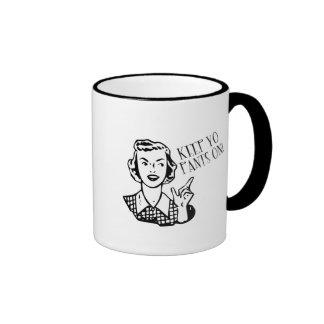 Keep Yo Pants On! - Retro Housewife Ringer Coffee Mug