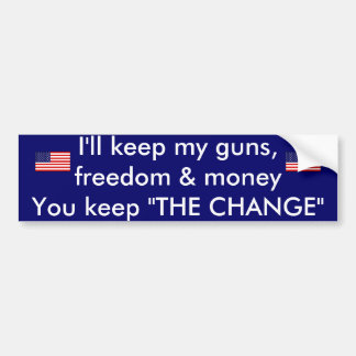 keep you guns bumper sticker