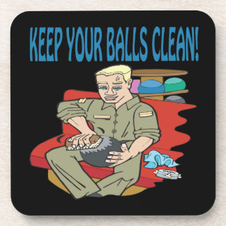Keep Your Balls Clean Drink Coaster