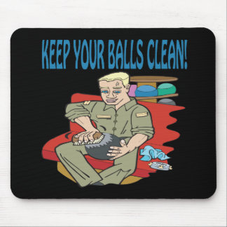Keep Your Balls Clean Mouse Pad