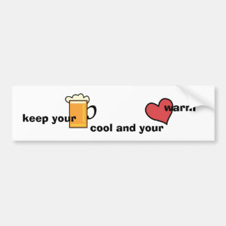 Keep your bear cool… bumper sticker