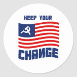 Keep your Change T-shirt Round Stickers