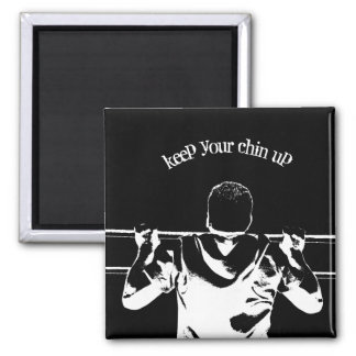 Keep Your Chin Up 2 Inch Square Magnet