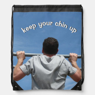 Keep Your Chin Up Drawstring Backpack