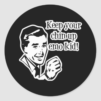 Keep Your Chin Up Emo Kid! Classic Round Sticker