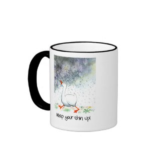 'Keep Your Chin Up!' Ringer Mug mug