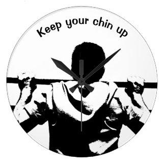 Keep Your Chin Up Wallclocks